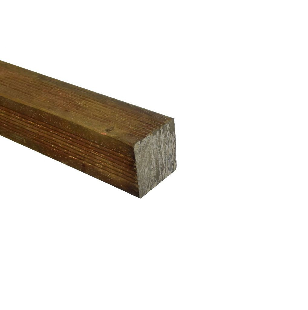 Azobé Paal geschaafd 4-zijdig geribbeld 65x65mm (2)