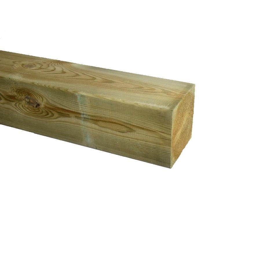 Grenen Paal geschaafd geimpregneerd 120x120mm