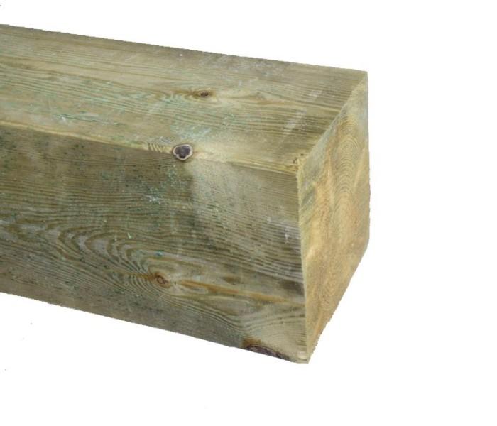 Grenen Paal geschaafd geimpregneerd 150x150mm