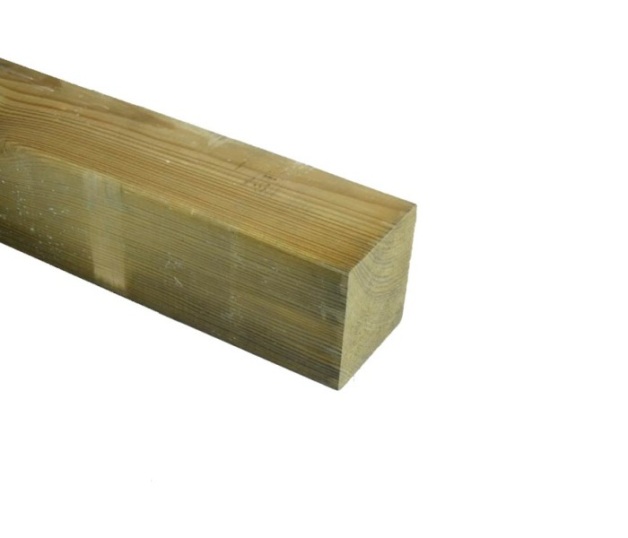 Grenen Paal geschaafd geimpregneerd 85x85mm (2)