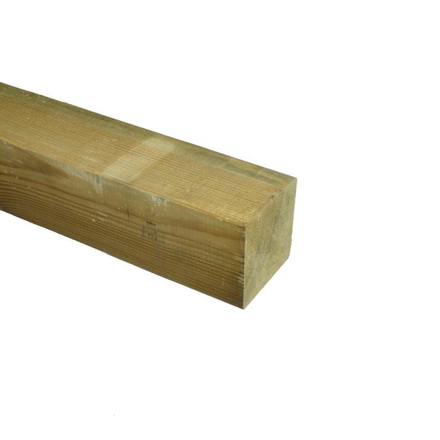Grenen Paal geschaafd geimpregneerd 85x85mm