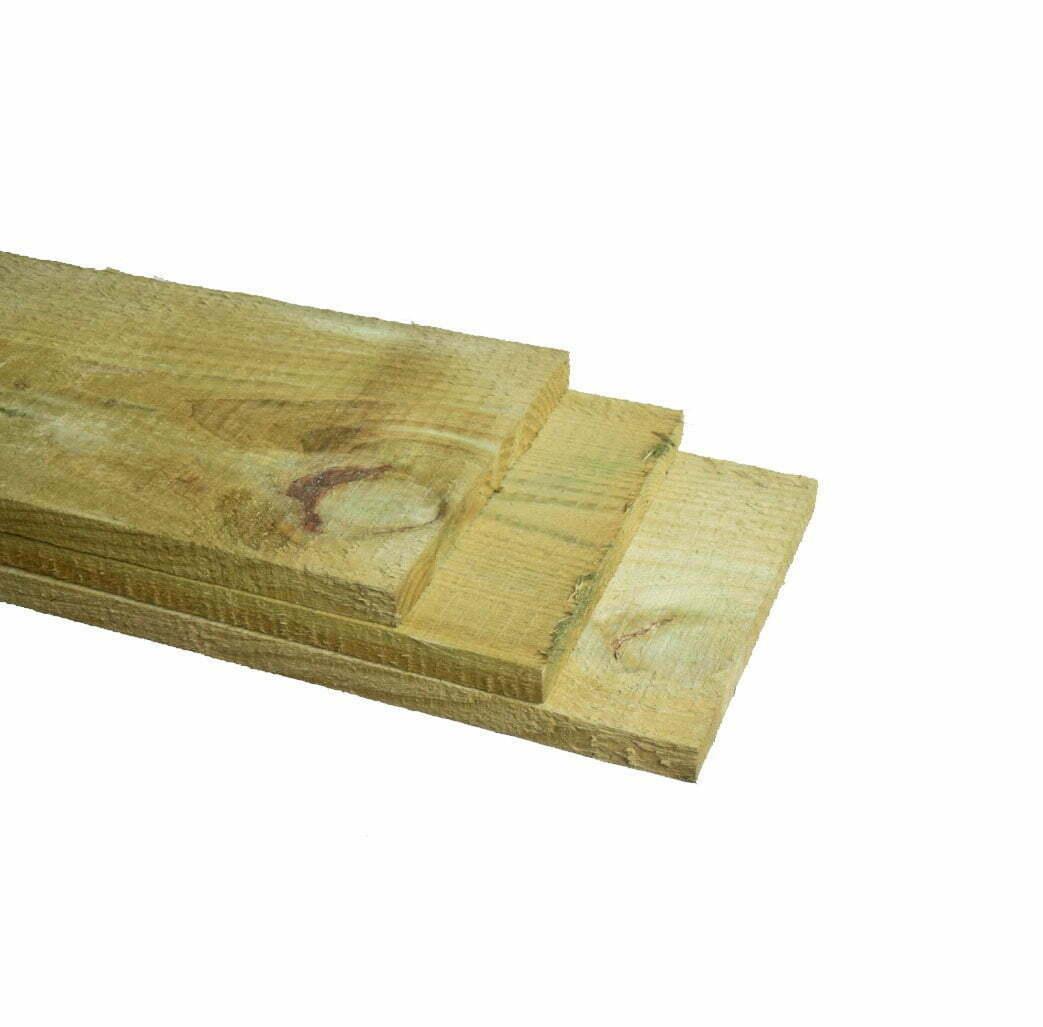 Grenen Plank ruw geimpregneerd 22x200mm (2)