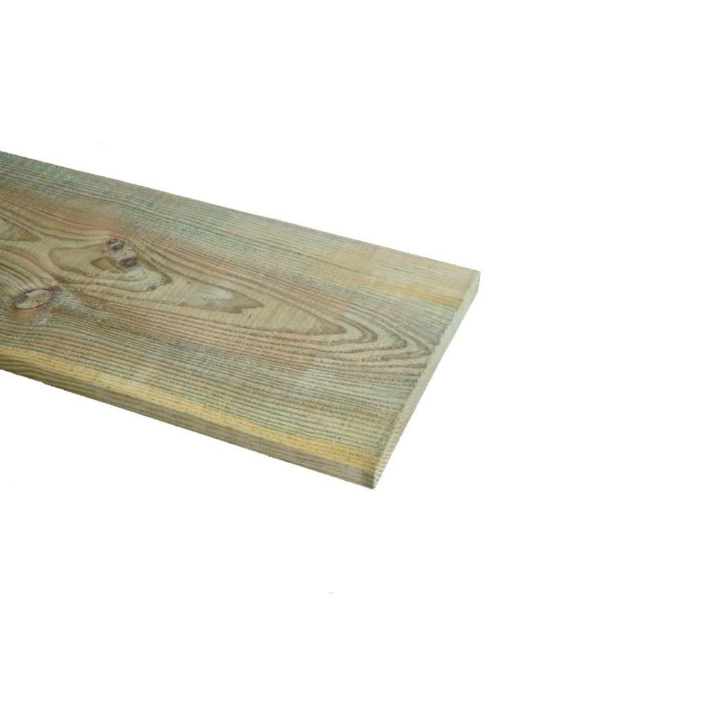 Grenen plank geschaafd geimpregneerd 20x200mm