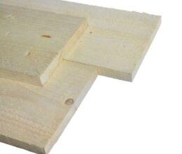 Vuren plank ruw 22x200mm