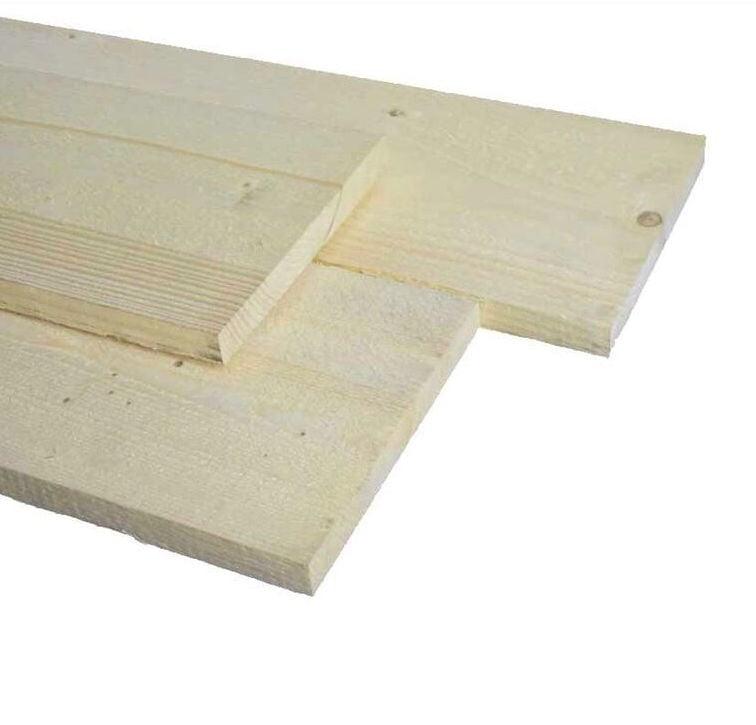 Vuren plank ruw 32x150x3300mm