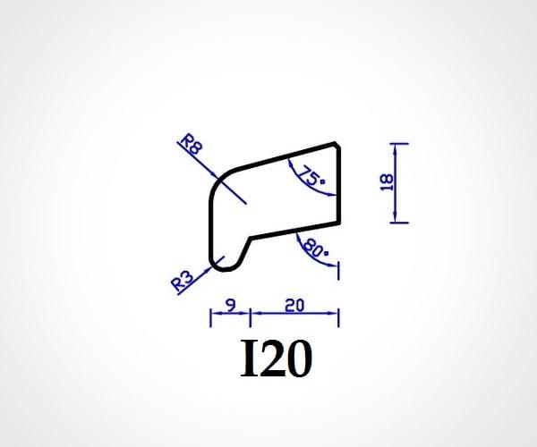 Meranti Glaslat neusmodel I20