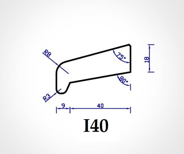 Meranti Glaslat neusmodel I40 18x54x4300mm