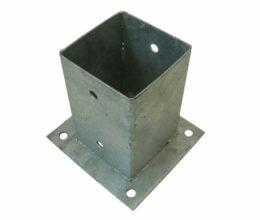 Paalhouder met plaat thermisch verzinkt 71x71mm
