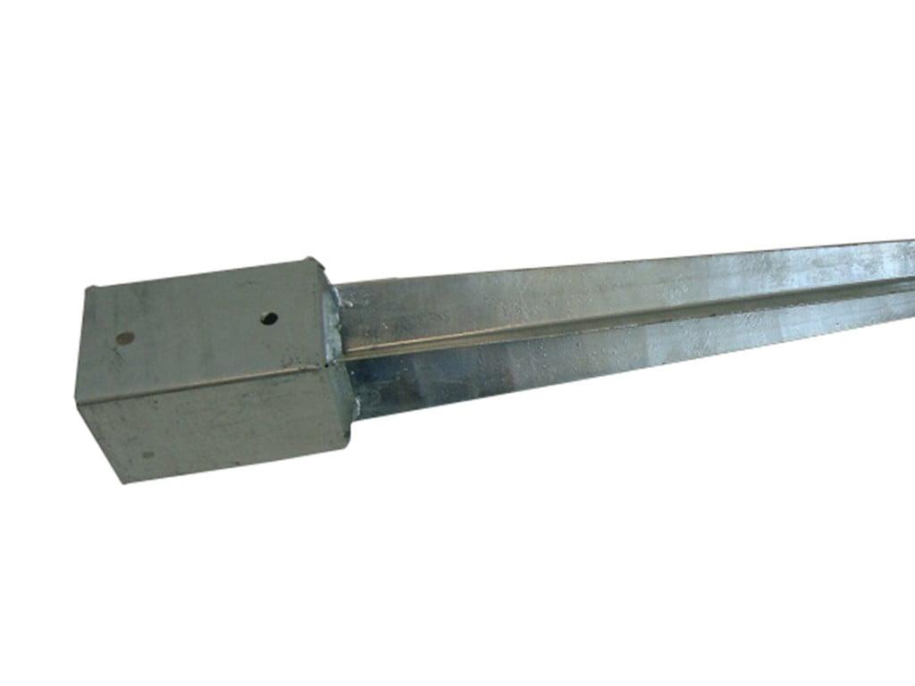 Paalhouder met punt thermisch verzinkt 91x91x750mm