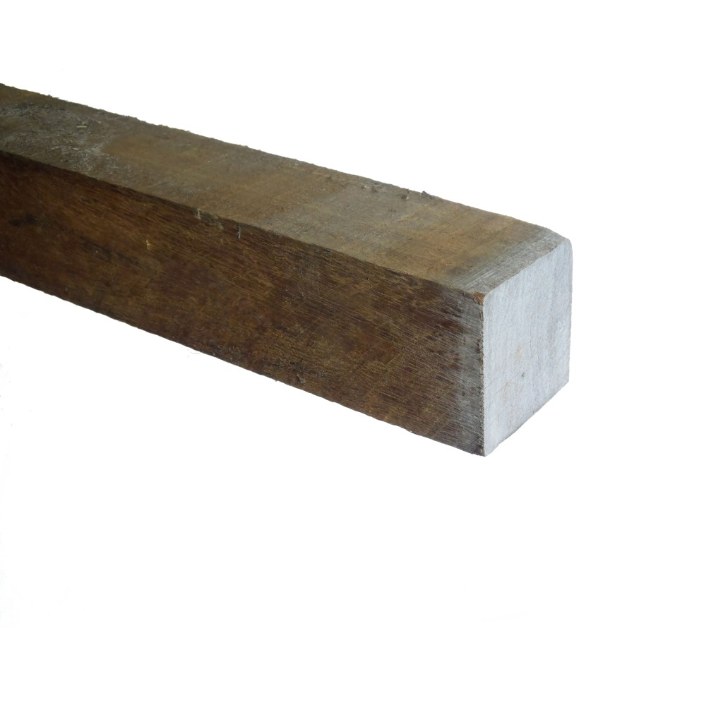 Azobé Paal ruw 100x100mm