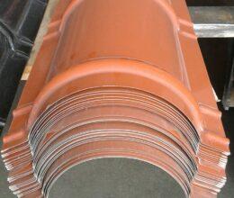 Nokstuk dakpanplaat 2000mm terracotta rood