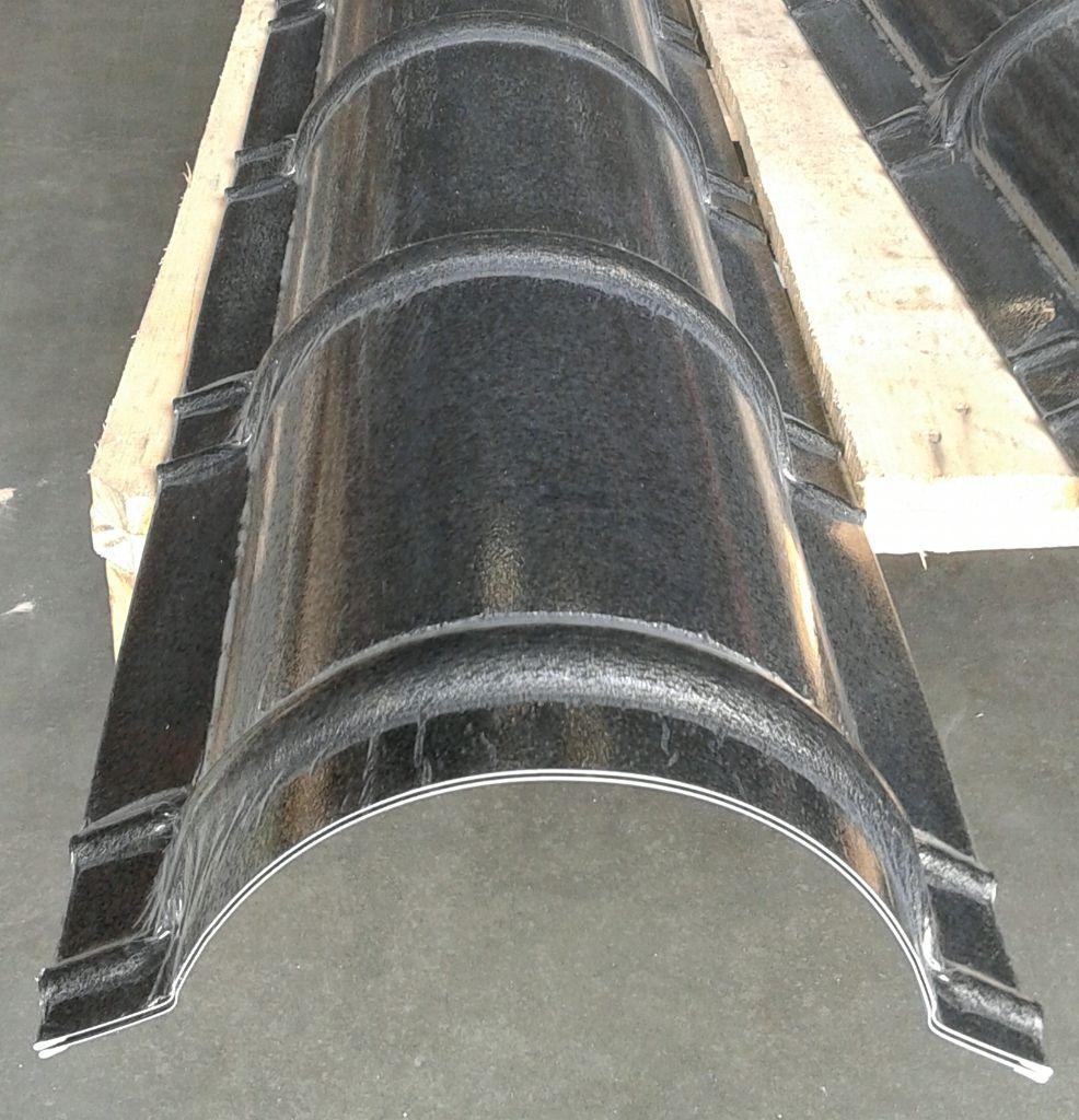 Nokstuk dakpanplaat 2000mm zwart antraciet