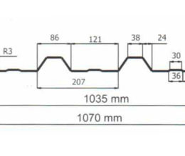 Profiel Damwandplaat 35mm dak wand