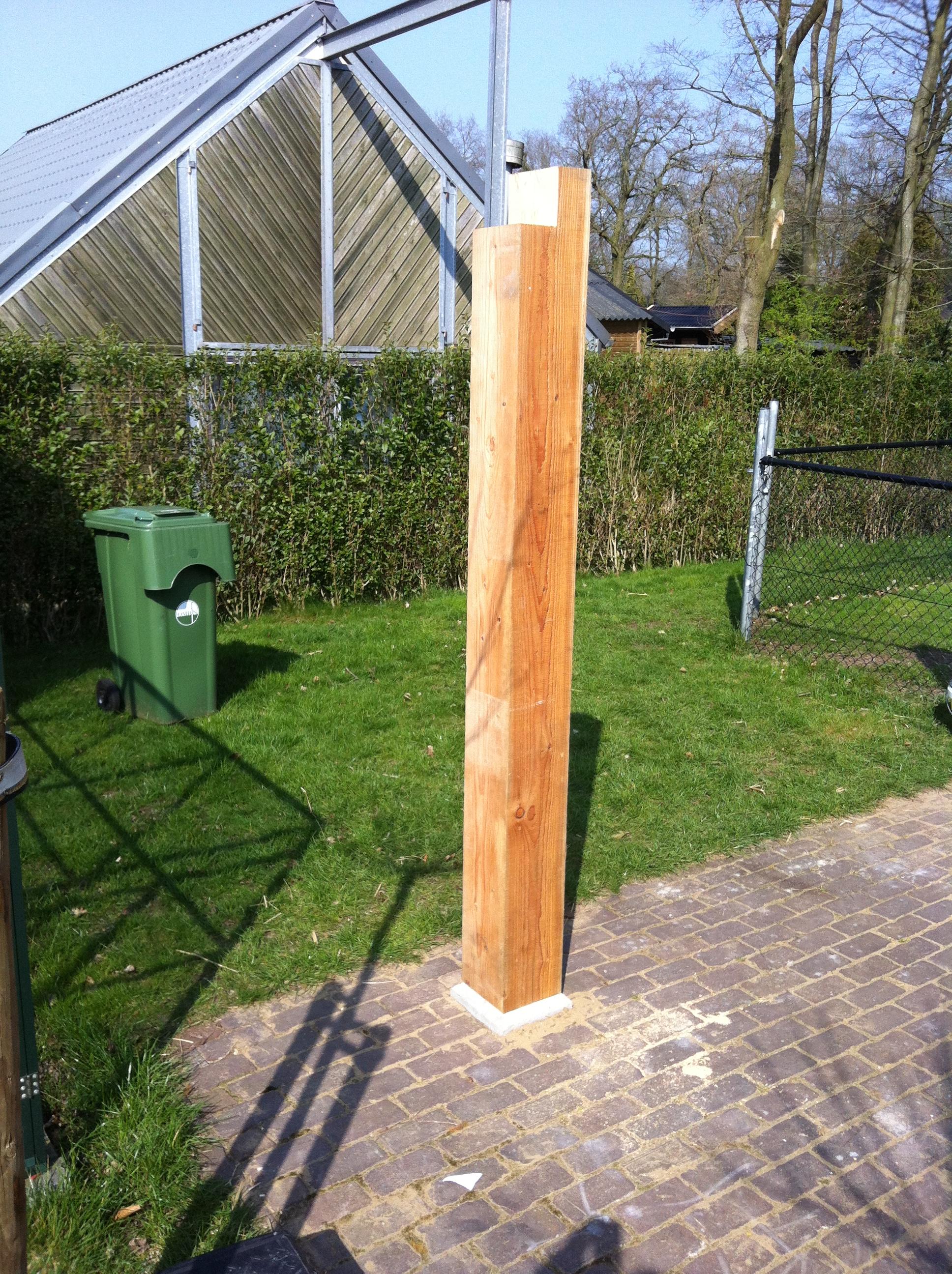 Zelf een overkapping maken for Huis in tuin voor ouders