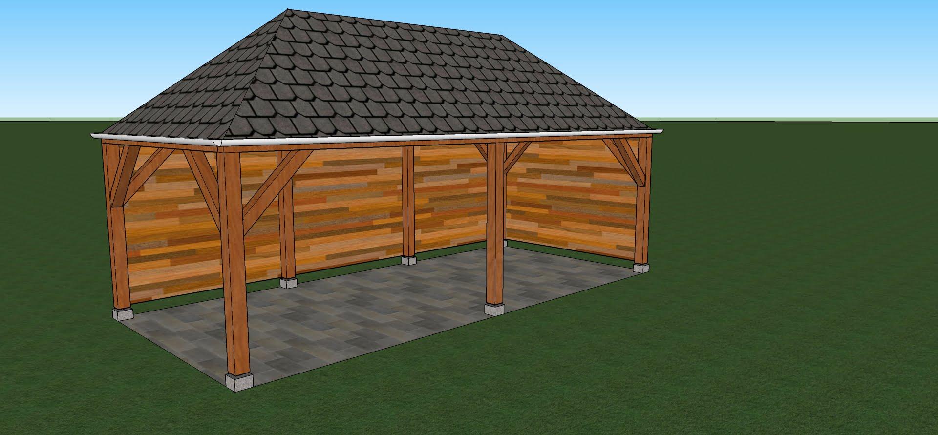 Zelf een overkapping maken - Veranda met dakpan ...