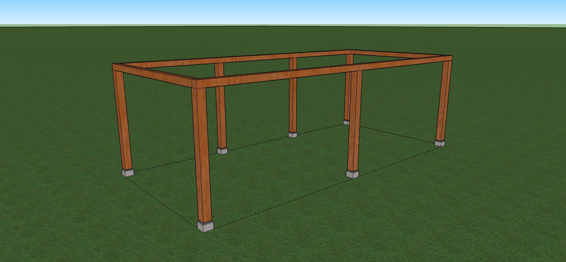 zelf een carport bouwen