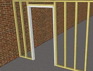 Scheidingwand houten frame