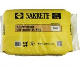 Krimparme gietmortel Sakrete K70 25kg