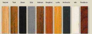Woca exterior oil kleuren