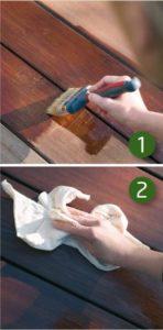 Woca exterior oil stappen