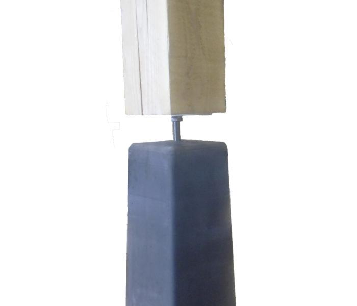 Betonpoer antraciet 150x150mm met hoogteverstelling