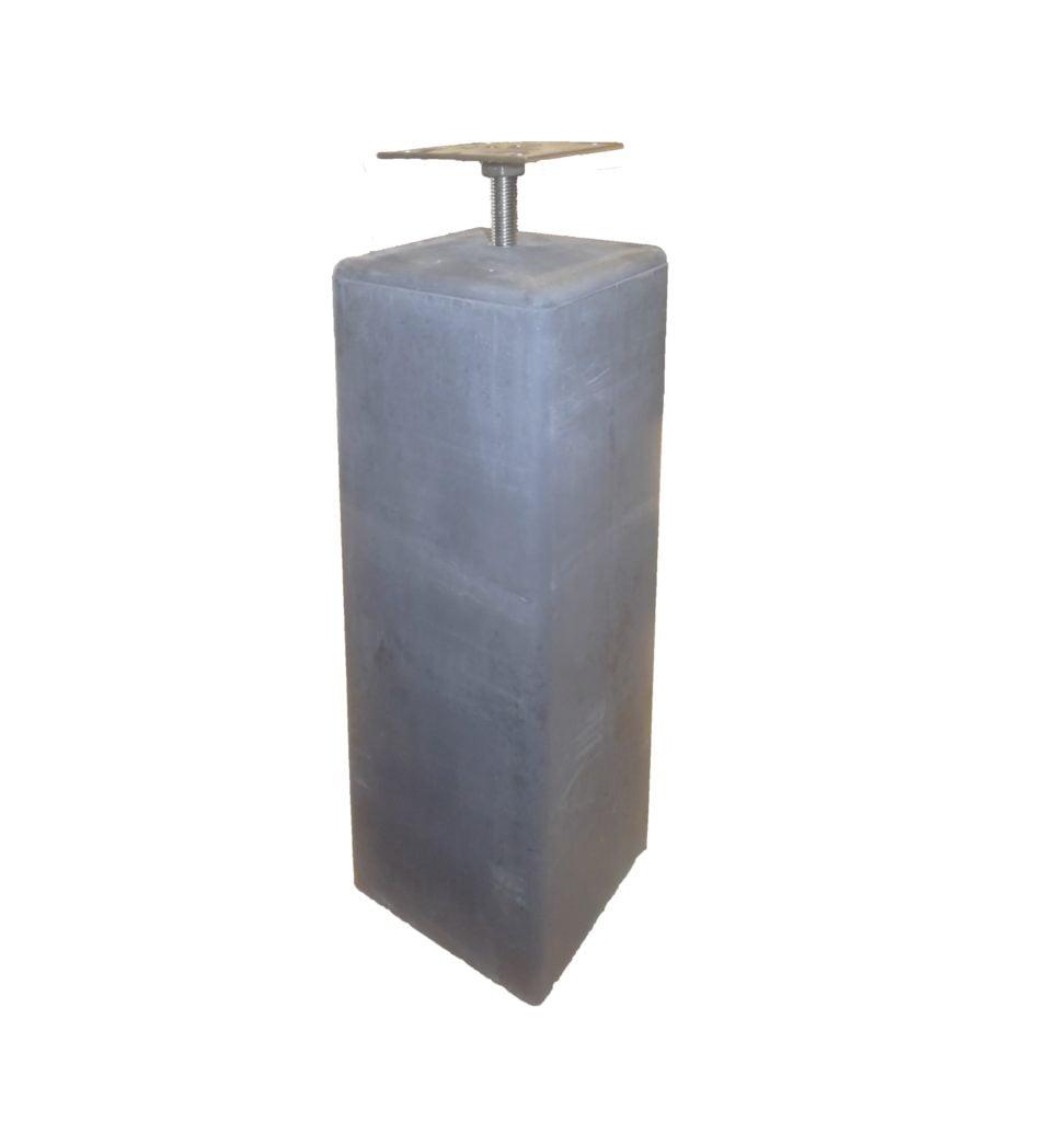 Betonpoer antraciet 20x20x50cm