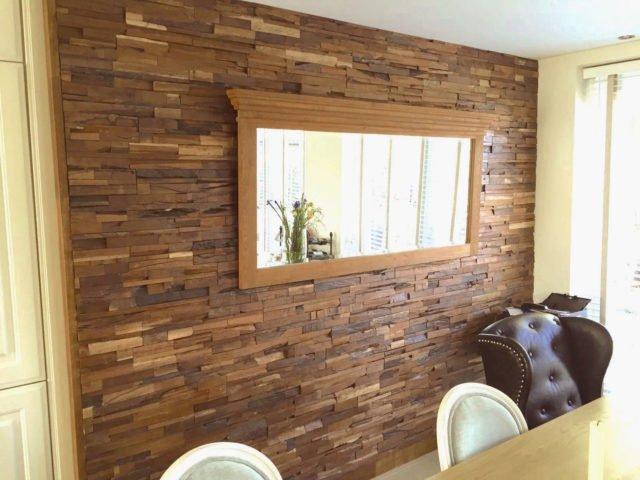 Houtstrips 3d houten wandbekleding - Interieur gevelbekleding houten ...